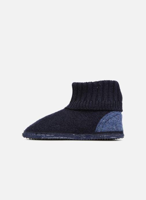 Pantofole Giesswein Kramsach2 Azzurro immagine frontale