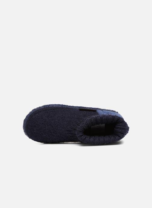 Hausschuhe Giesswein Kramsach2 blau ansicht von links
