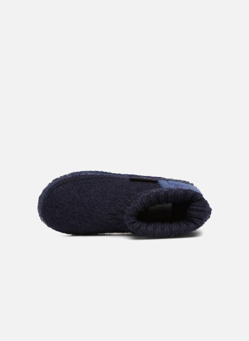 Pantofole Giesswein Kramsach2 Azzurro immagine sinistra