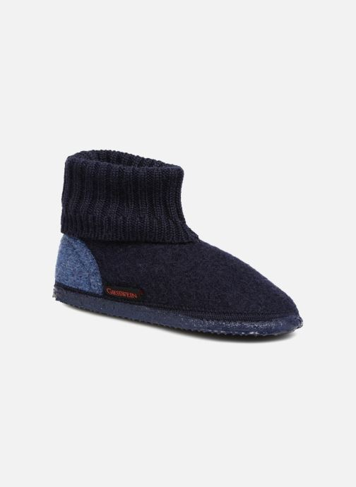 Hjemmesko Giesswein Kramsach2 Blå detaljeret billede af skoene