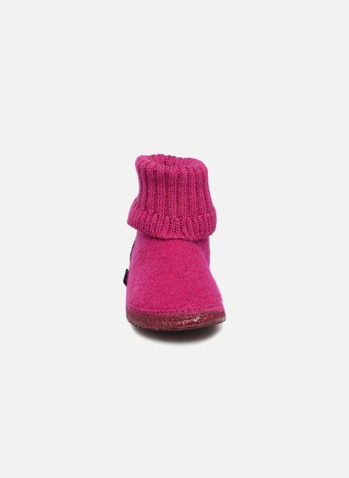 Hausschuhe Giesswein Kramsach2 rosa schuhe getragen