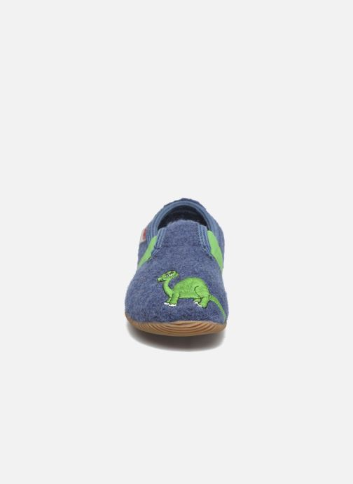 Chaussons Giesswein Weißenhorn Bleu vue portées chaussures