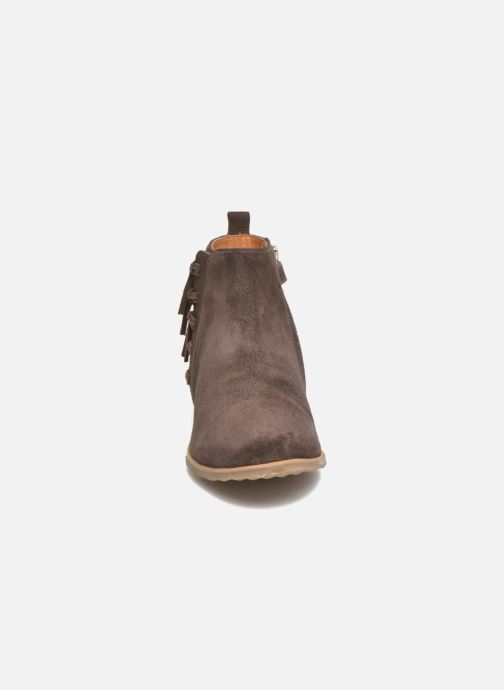 Ankle boots Shwik Odeon Fringe Brown model view