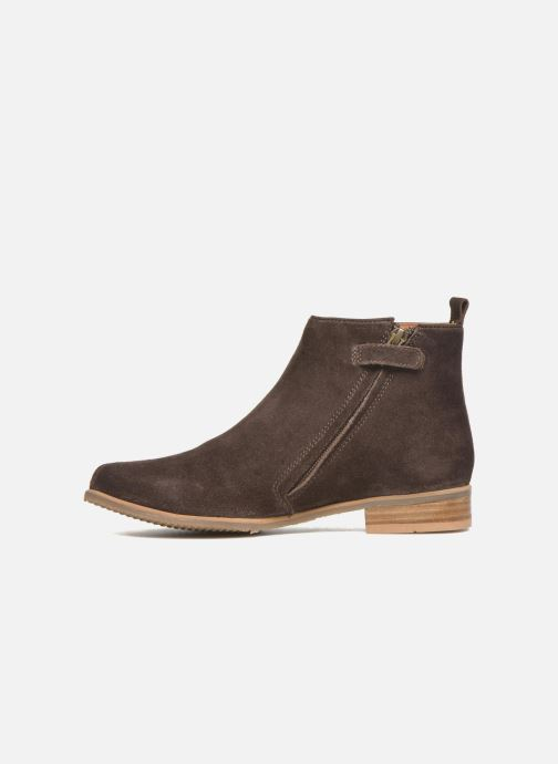 Ankle boots Shwik Odeon Fringe Brown front view