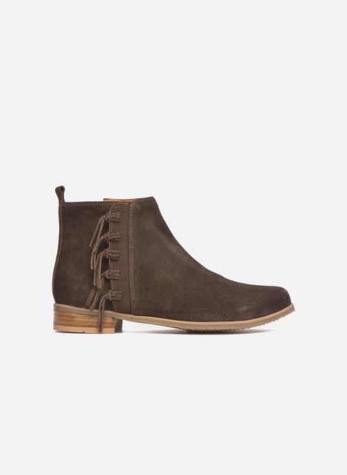 Ankle boots Shwik Odeon Fringe Brown back view