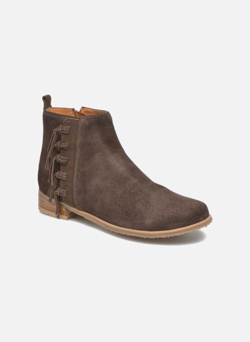 Ankle boots Shwik Odeon Fringe Brown detailed view/ Pair view