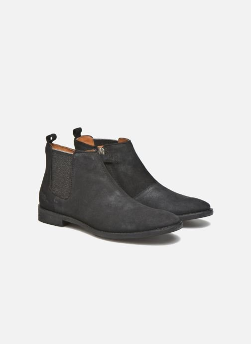 Ankle boots Shwik Mia Brogue Zip Black 3/4 view