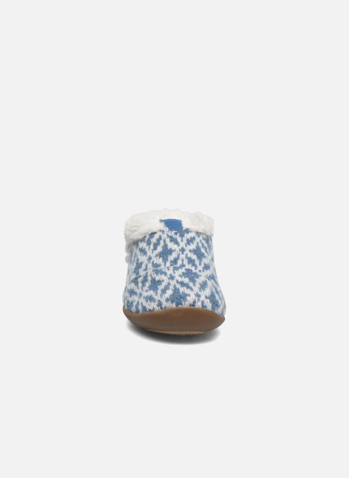 Pantuflas TOMS House Slipper Azul vista del modelo