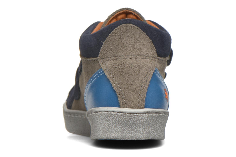 Baskets Art A061 Split Bleu vue droite