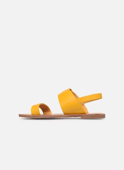 Sandales et nu-pieds Les P'tites Bombes Pervenche Jaune vue face