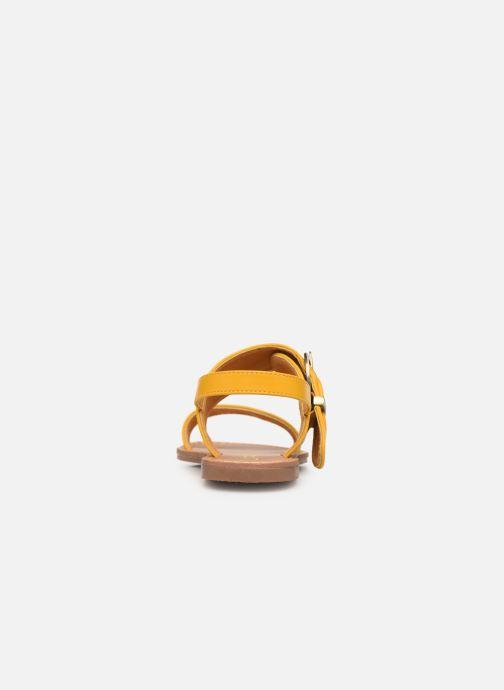 Sandales et nu-pieds Les P'tites Bombes Pervenche Jaune vue droite