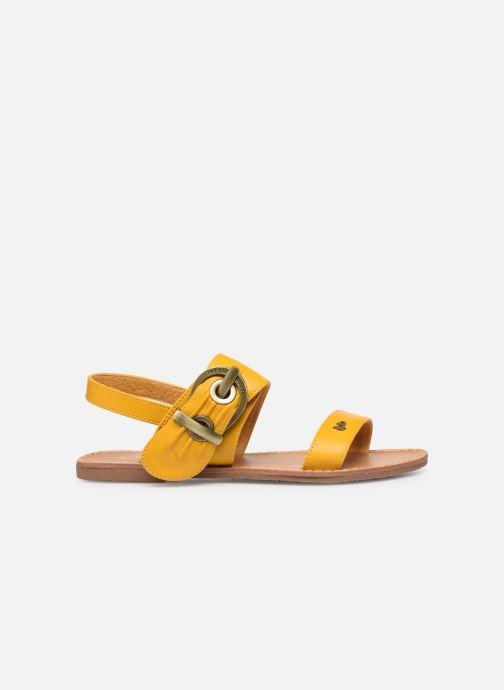 Sandales et nu-pieds Les P'tites Bombes Pervenche Jaune vue derrière