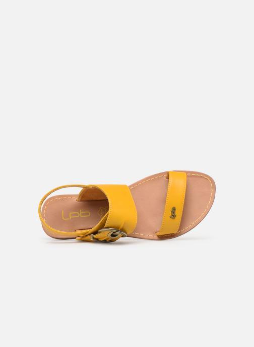 Sandales et nu-pieds Les P'tites Bombes Pervenche Jaune vue gauche