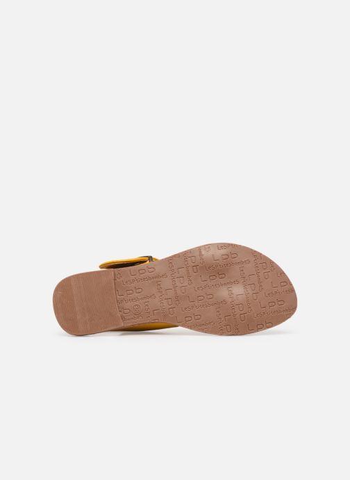 Sandales et nu-pieds Les P'tites Bombes Pervenche Jaune vue haut