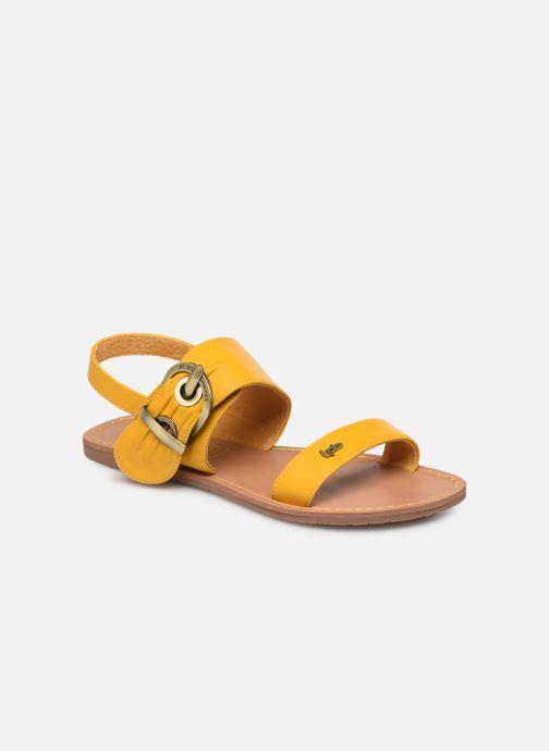 Sandales et nu-pieds Les P'tites Bombes Pervenche Jaune vue détail/paire