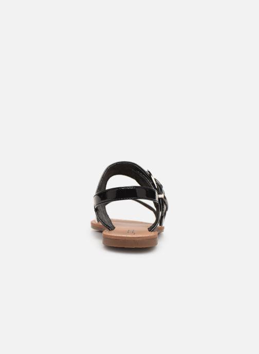 Sandales et nu-pieds Les P'tites Bombes Pervenche Noir vue droite