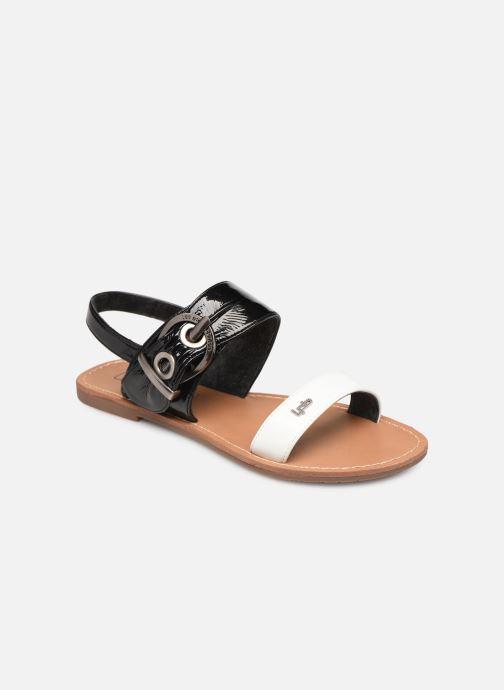 Sandaler Les P'tites Bombes Pervenche Sort detaljeret billede af skoene