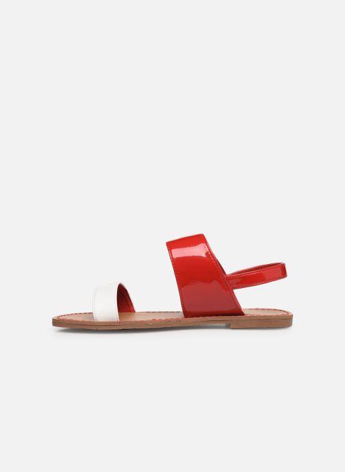 Sandalen Les P'tites Bombes Pervenche rot ansicht von vorne