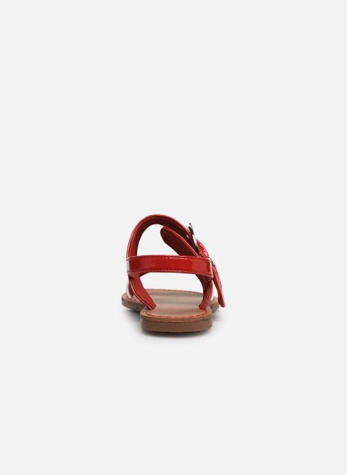 Sandalen Les P'tites Bombes Pervenche rot ansicht von rechts