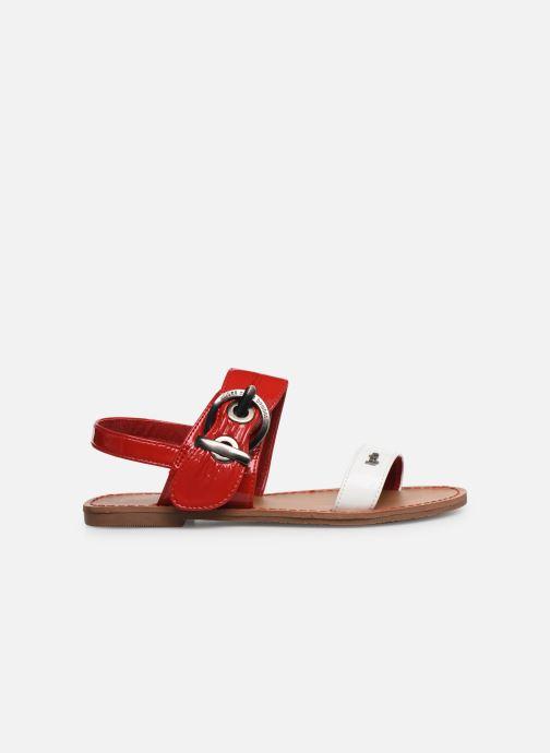 Sandalen Les P'tites Bombes Pervenche rot ansicht von hinten