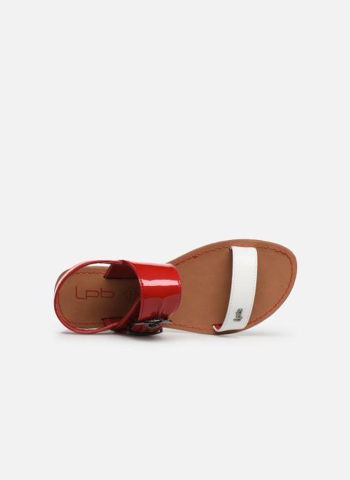 Sandalen Les P'tites Bombes Pervenche rot ansicht von links