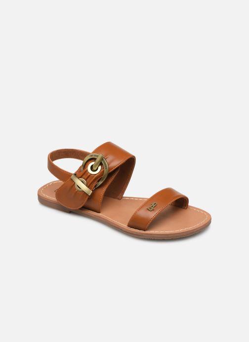 Sandaler Les P'tites Bombes Pervenche Brun detaljeret billede af skoene