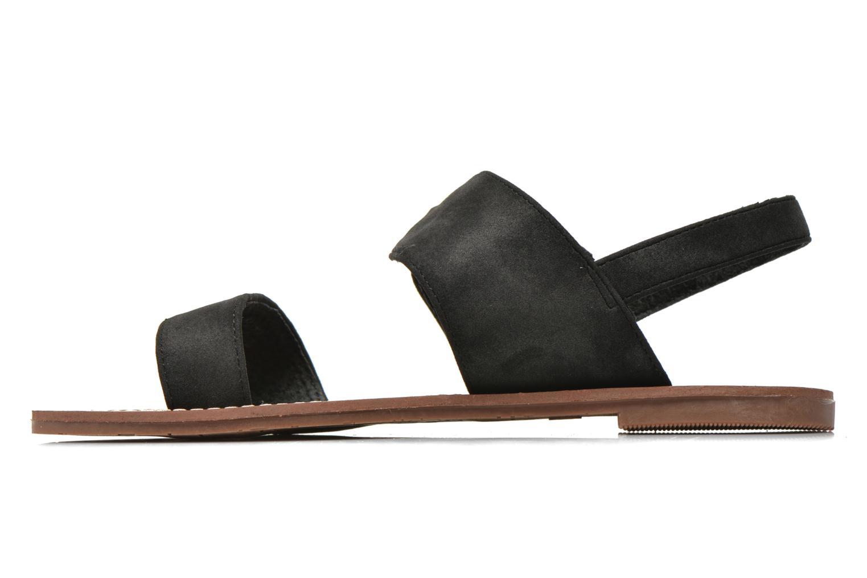 Sandales et nu-pieds Les P'tites Bombes Pervenche Noir vue face