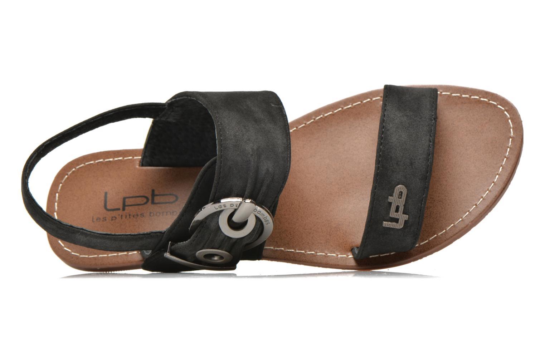 Sandales et nu-pieds Les P'tites Bombes Pervenche Noir vue gauche