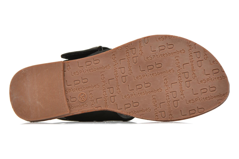 Sandales et nu-pieds Les P'tites Bombes Pervenche Noir vue haut