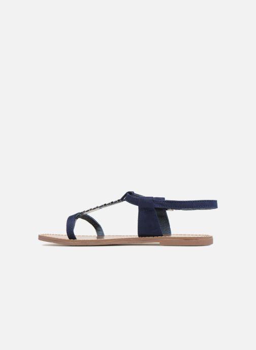 Sandales et nu-pieds Les P'tites Bombes PETUNIA Bleu vue face