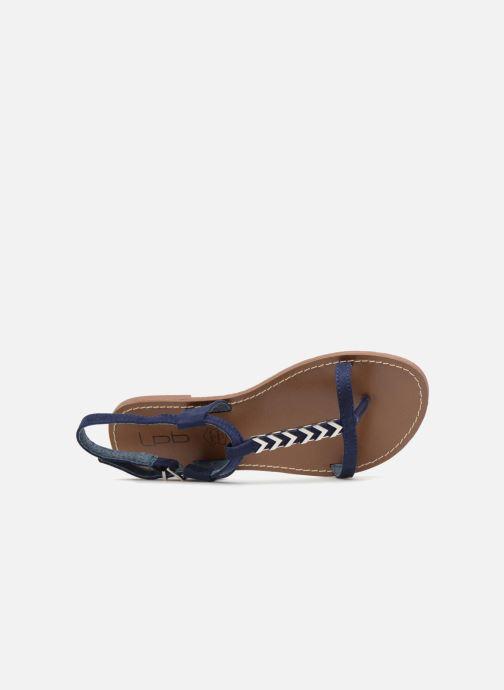 Sandales et nu-pieds Les P'tites Bombes PETUNIA Bleu vue gauche