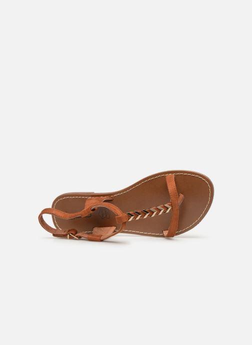 Sandales et nu-pieds Les P'tites Bombes PETUNIA Marron vue gauche