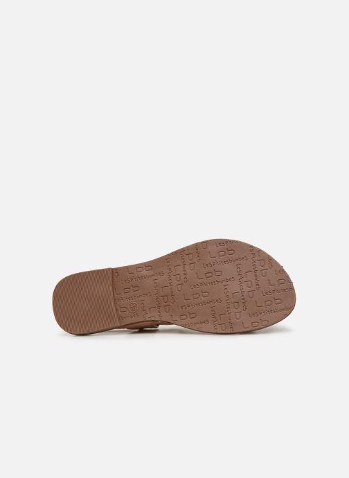 Sandales et nu-pieds Les P'tites Bombes PETUNIA Beige vue haut