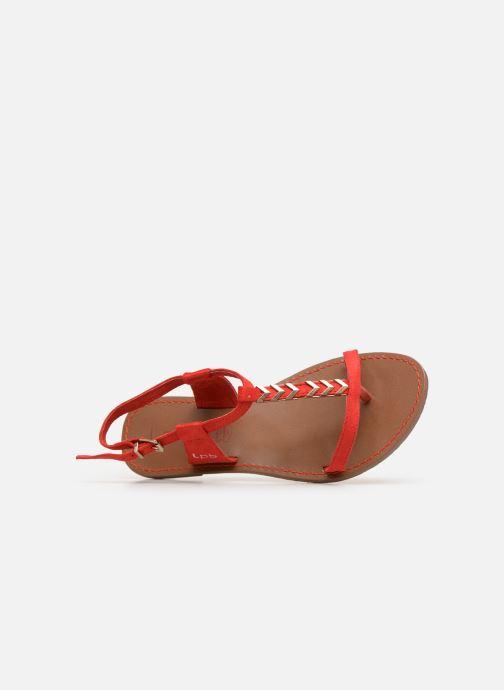 Sandales et nu-pieds Les P'tites Bombes PETUNIA Rouge vue gauche