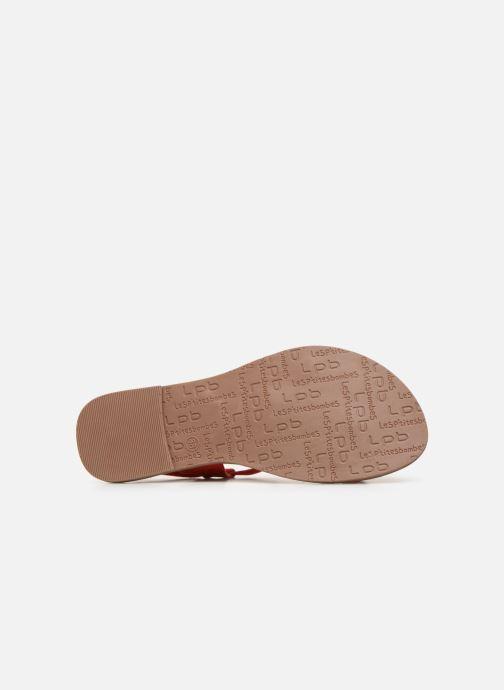 Sandales et nu-pieds Les P'tites Bombes PETUNIA Rouge vue haut