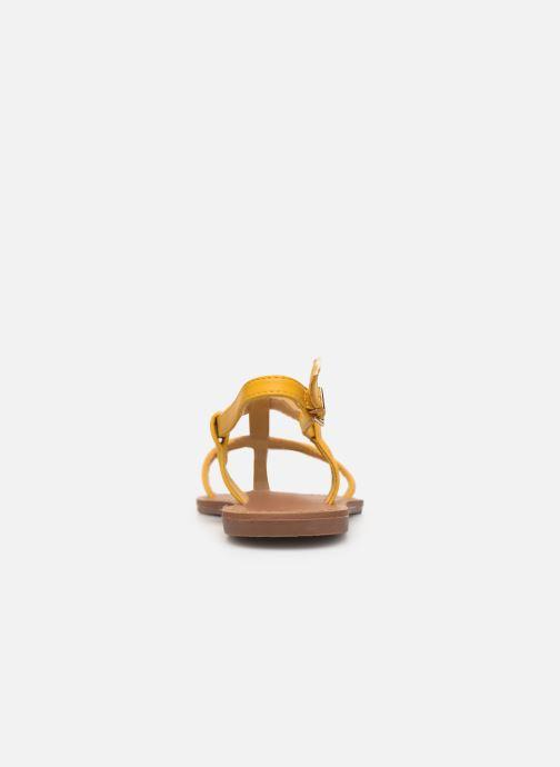 Sandales et nu-pieds Les P'tites Bombes PETUNIA Jaune vue droite