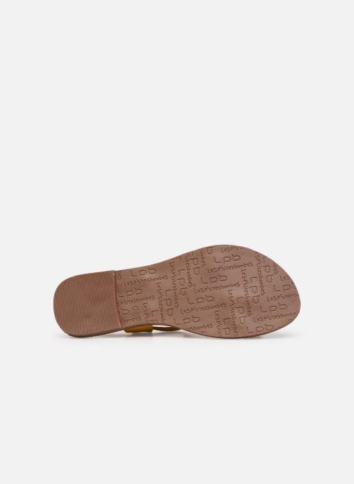 Sandales et nu-pieds Les P'tites Bombes PETUNIA Jaune vue haut