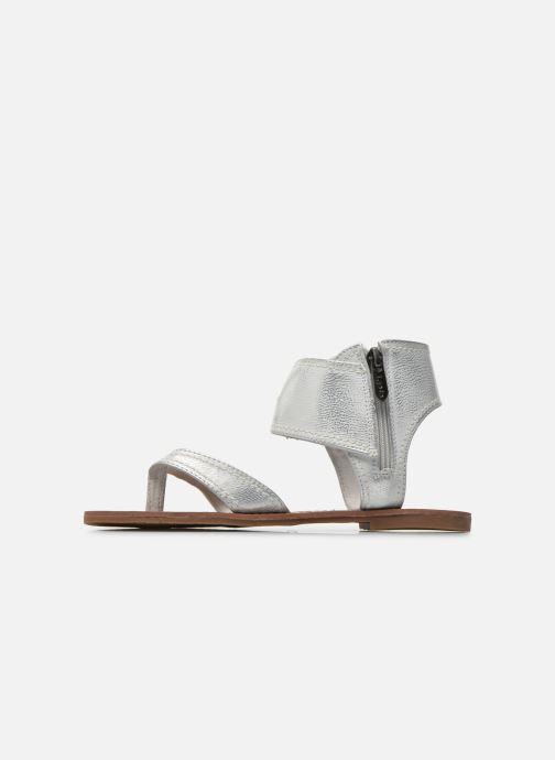 Sandales et nu-pieds Les P'tites Bombes Thalie Argent vue face