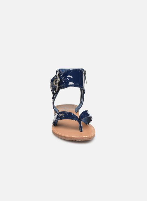 Sandales et nu-pieds Les P'tites Bombes Thalie Bleu vue portées chaussures