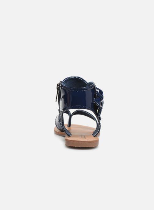 Sandales et nu-pieds Les P'tites Bombes Thalie Bleu vue droite
