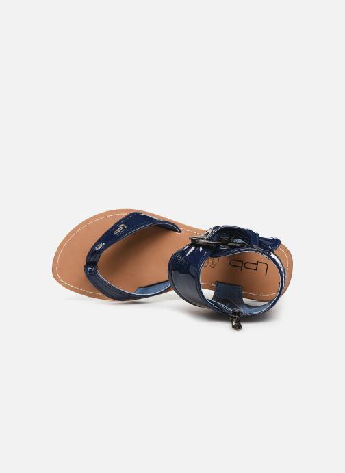 Sandales et nu-pieds Les P'tites Bombes Thalie Bleu vue gauche