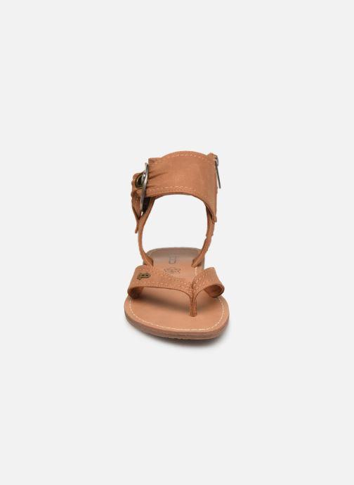 Sandales et nu-pieds Les P'tites Bombes Thalie Marron vue portées chaussures