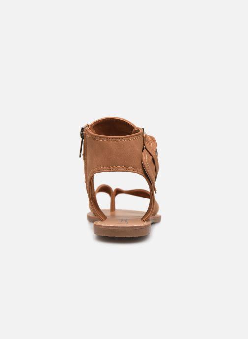 Sandales et nu-pieds Les P'tites Bombes Thalie Marron vue droite