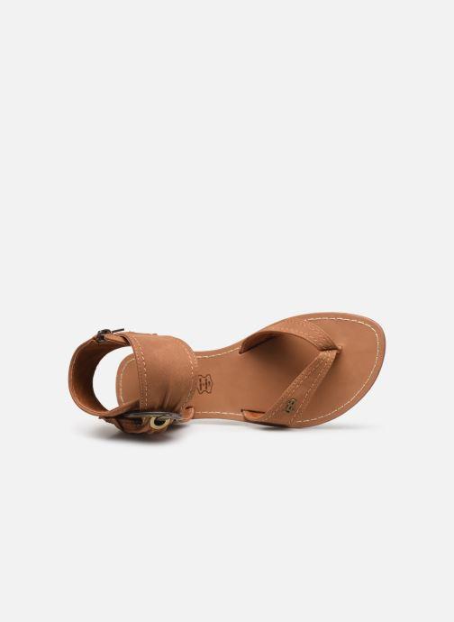Sandales et nu-pieds Les P'tites Bombes Thalie Marron vue gauche