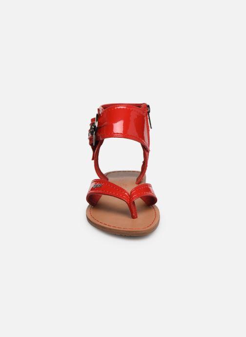 Sandales et nu-pieds Les P'tites Bombes Thalie Rouge vue portées chaussures