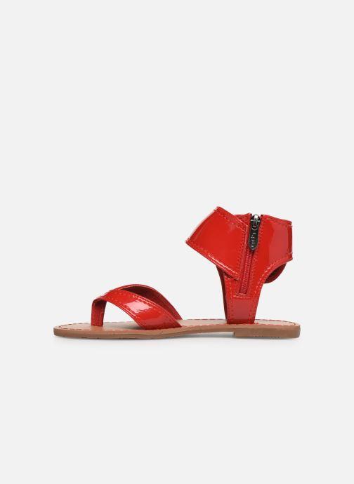 Sandalen Les P'tites Bombes Thalie rot ansicht von vorne
