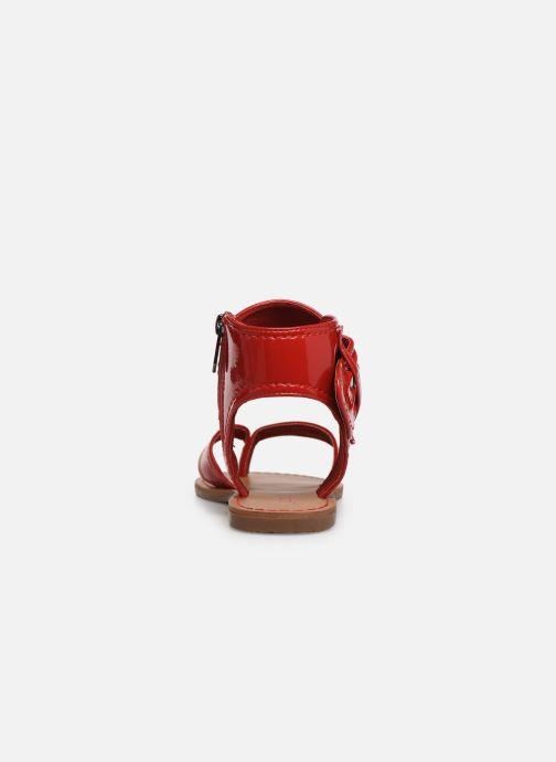 Sandales et nu-pieds Les P'tites Bombes Thalie Rouge vue droite