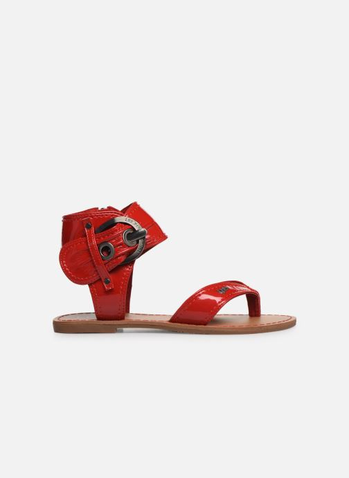 Sandales et nu-pieds Les P'tites Bombes Thalie Rouge vue derrière