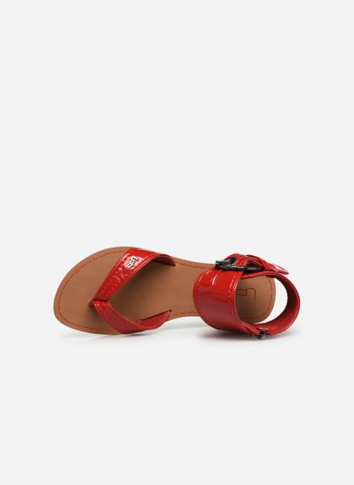 Sandales et nu-pieds Les P'tites Bombes Thalie Rouge vue gauche