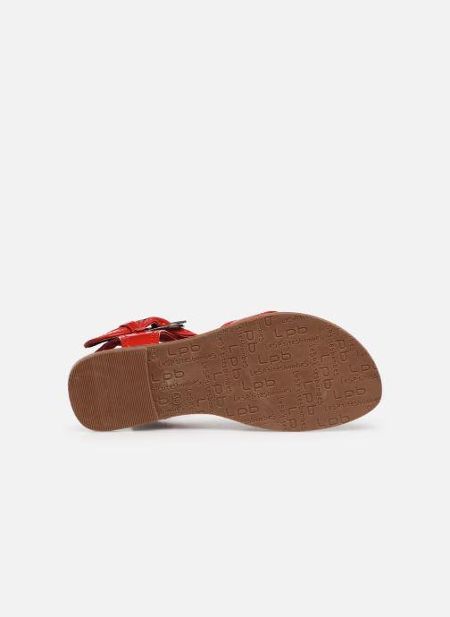 Sandales et nu-pieds Les P'tites Bombes Thalie Rouge vue haut